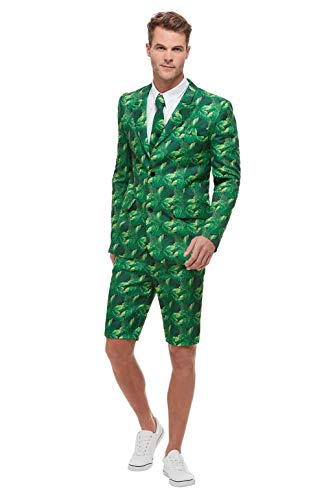 Smiffys 51038L - Traje de palmera tropical, para hombre, color verde