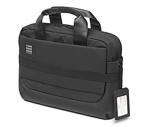 Moleskine ID Kollektion Professionelle Wasserdichte Aktentasche (Gerätetasche für Tablet, Laptop, PC, Notebook und iPad Bis zu 15 Zoll, Maße 40,6 x 13,1 x 29,6 cm) schwarz