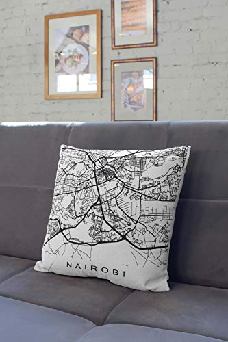 Lplpol Pillow Nairobi Gifts Kenya Pillow Nairobi, Decorative Pillowcases For Couch For Home Couch Sofa Bedding 16x16 Inch