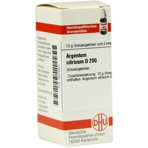 ARGENTUM NITRICUM D 200 Globuli 10 g Globuli
