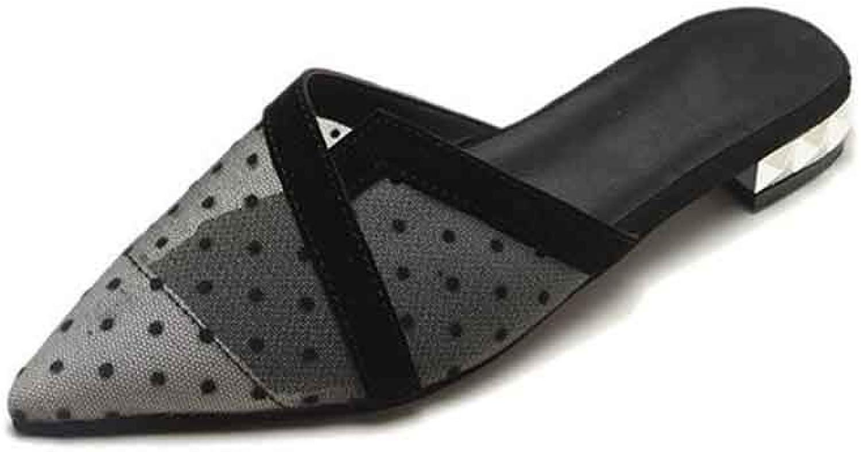 Ladies Sandals Summer Low-Heeled Lady Sandals Female Non-Slip Ladies Sandal Not Leaking Toe,Natural,35