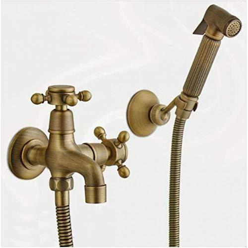 Zixin Bronze Bidet WC-Sitz Sprayer Gun Hygienic Brausenset Tragbarer Bidet Wasserhahn mit Messingbrausenhalter