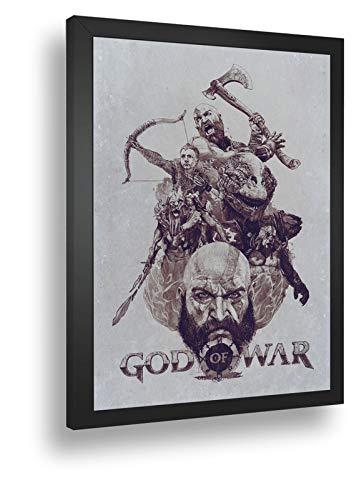 Quadro Decorativo Poste God Of War Ps4 Kratos Classico