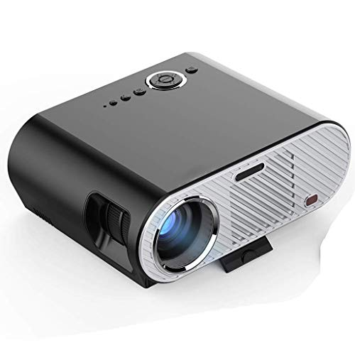 HCL Projektor Home Office Projektor LED Mini HD 1080p Projektionsprojektion mit HDMI/USB/SD für iPhone Android, Heimkino-Unterhaltung, Film im Freien