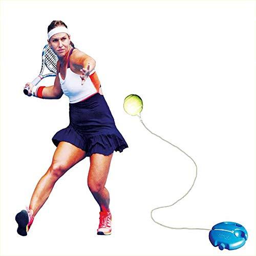 XFSD Entraîneur de Tennis Rebound Kickboard Self Tennis Training Tool, Dispositif d'entraînement de Tennis, Balle de Tennis élastique Haute Laine, Base antidérapante Eva, Utilisé pour l'entraînement