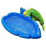 libelyef Bañera para pájaros, colgante para pajarera de juguete de la jaula de accesorios de ducha de agua alimentador de pájaros juguetes para loros, periquitos, cacatúas