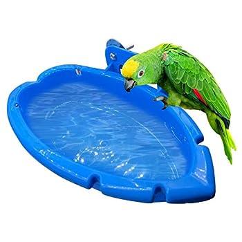 Kbsin212 Baignoire Perroquet, Baignoire pour Perroquet pour Animal Domestique Accessoires de Cage pour Oiseau Miroir de Bain Bain Boîte de Douche Cage à Oiseaux Petit Oiseau Cage à Oiseaux Jouets
