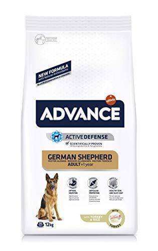 ADVANCE Pastor Alemán - Pienso Para Perros Adultos Con Pavo - 12 kg
