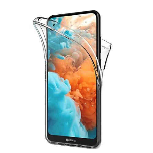 All Do Hülle für Huawei Nova 5T/Honor 20, 360 Grad Schutz Entworfen, Transparent Ultra Dünn TPU Silikon Hülle Vorne & PC Zurück Hülle Ursprüngliche Schönheit Doppelte Schutzabdeckung-Transparent