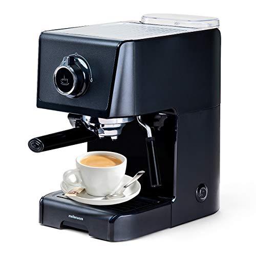 Cafetera express para espresso y capuccino KOFFY. 1200W 15 Bares. Vaporizador orientable. Capacidad 1,2L Café molido y monodosis.