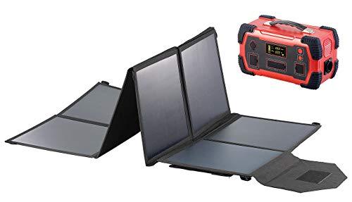 reVolt Stromerzeuger: Powerbank & Solar-Konverter mit faltbarem 100-Watt-Solarpanel, 216Ah (2in1 Solar Generatoren Powerbanks)