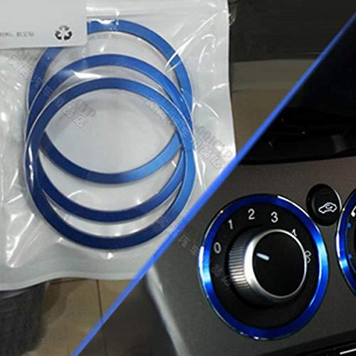 GOFORJUMP 3pcs / Set Voiture Alliage luminum air AC Boutons de décoration Couvercle pour F/ord Focus 3 MK3 Kuga 2012 2013