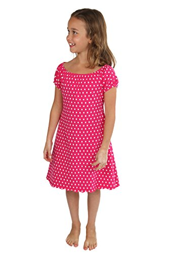 Lilakind Mädchen Kleid Sommerkleid Carmenkleid Jersey Sterne 86/92