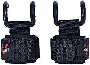 valeo 2Pcs/lot Weight Lifting Hook Hand Bar Wrist Straps Glove Weightlifting Strength Training Gym Fitness Hook Support Li...