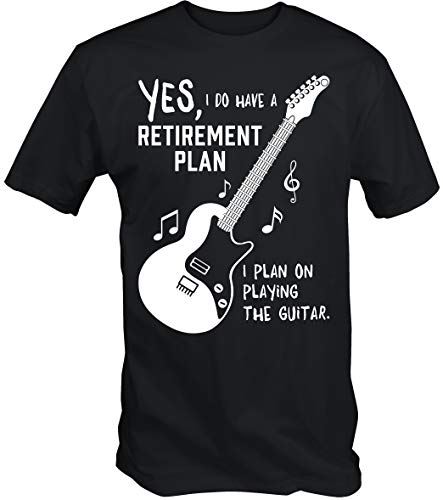6TN My Guitarra ES MY Jubilación Plan de Camiseta - Negro, XX-Large