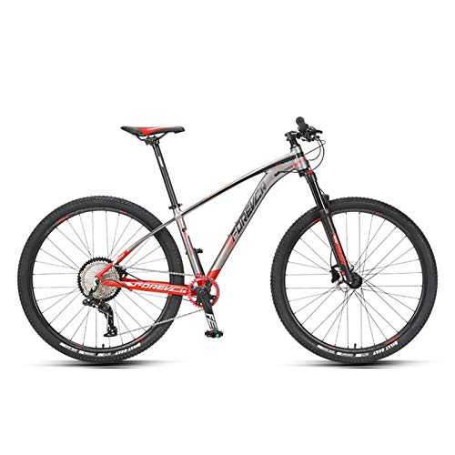 JKCKHA Sport And Expert Adult Mountain Bike, 29-Inch Wheels, Aluminum Alloy Frame, Rigid Hardtail, Hydraulic Disc Brakes, All-Terrain Mountain Bike,Multiple Colors,Red
