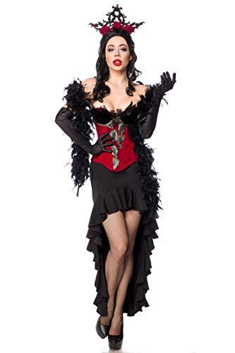 Mask Paradise 80152 Disfraz de Burlesque Queen 80152, Talla XXL, Color Rojo
