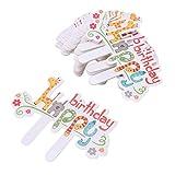 100 Pcs Paper Cake Toppers Cupcake Toppers Cupcake Picks Cute Cartoon Giraffe Happy Birthday Cake Fruit Picks Dessert Table Decoration Supplies