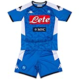 SSC Napoli Kit de primera equipación para niños temporada 2019/2020, Azul, 5 años