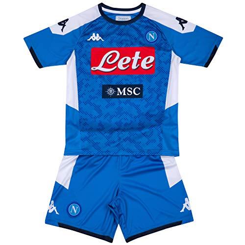 SSC Napoli Kit de primera equipación para niños temporada 2019/2020, Azul, 4 años