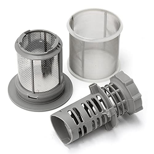 LJQSS Conveniencia Conjunto de Filtro de Malla de 2 Partes Lavavajillas PP Gris para Bosch Lavaplatos 427903 170740 Reemplazo Genuino de la Serie para desagües de Cocina Duradero