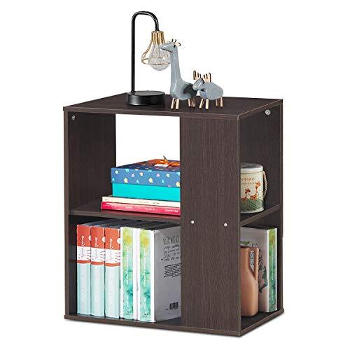 RELAX4LIFE Tavolino da Caffè in Legno, Tavolino da Divano Moderno, Comodino con Cuscinetti Antiscivolo, Ideale per Soggiorno e Ingresso, con Portata di 10 kg, 52 x 29,5 x 60 cm (marrone)