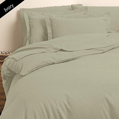 6 pièces de lit NEUF Couleur ivoire 100% coton égyptien Poche de 63,5 cm de profondeur 1000 fils solide Motif Taille unique