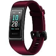 CHEREEKI Fitness Armband, Fitness Tracker Wasserdicht IP68 Fitness Uhr mit Pulsmesser Farbbildschirm Aktivitätstracker Schrittzähler Uhr Smartwatch Stoppuhr SMS Anruf Beachten für Damen Herren (Rot)