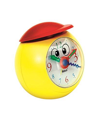 Langschläfer Aufgepasst: Hier kommt der lustige Kinderwecker mit Gesicht und Mütze/mit der Mütze lässt Sich der Alarm ausschalten/Farbe: rot gelb/Modell: 26438