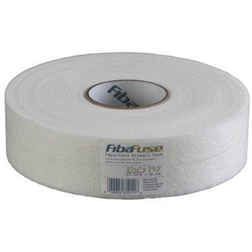 FibaFuse FDW8201-U 2-1/16-Inch by 250-Feet Paperless Drywall Tape, White