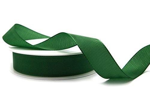 TAFTBAND DUNKELGRÜN 3 m x 25 mm (0,62€/m) Dekoband Grün Geschenkband 2,5 cm Stoffband Tischdeko Schleifenband Visco TAFT Kartengestaltung Basteln Weihnachten Tannengrün