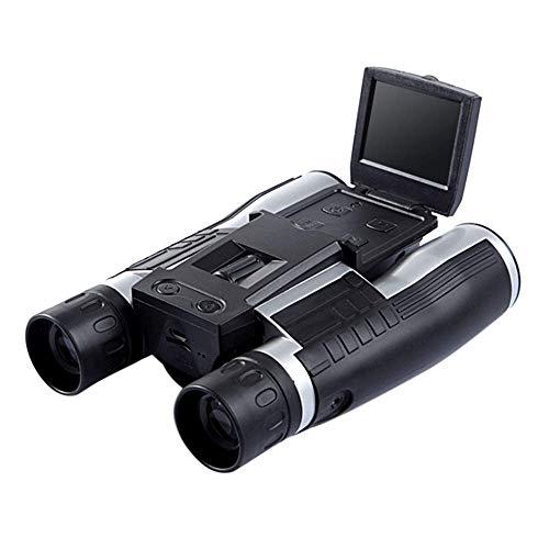 LNHJZ 12X32 HD 1080P Binoculares Cámara Digital 5MP CMOS Telescopio Binocular USB 2.0 Pantalla Zoom Telescopio Videocámara Grabación de Video