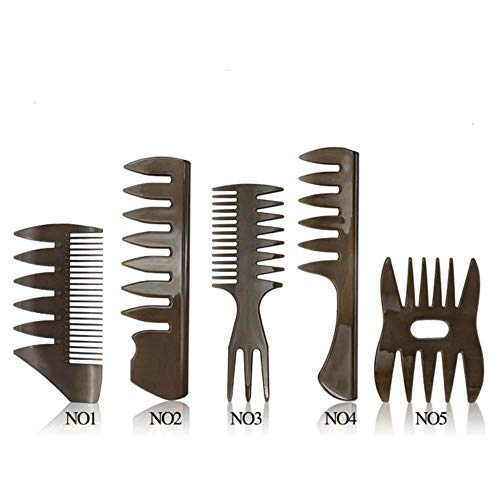 TUOF Haarborstel Kam Salon Kapper Grote Brede Tand Haar Kam Haarborstel Mannen Haar Kam Oiler Haarverzorging Styling Tool
