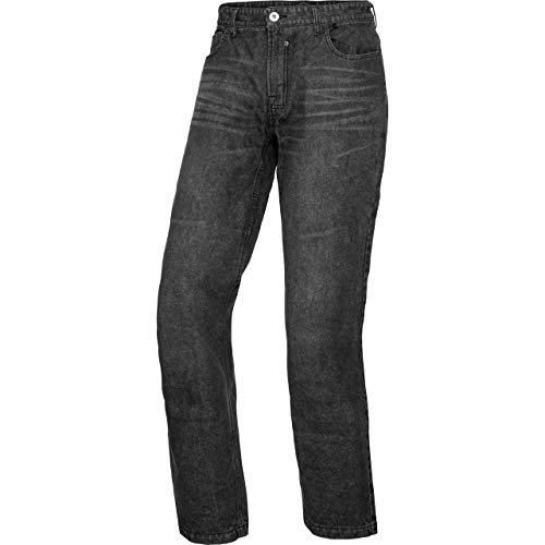 Spirit Motors Motorrad Jeans Motorradhose Motorradjeans Herren Jeans mit Schutzfunktion, 5-Pocket-Jeans, Boot-Cut Style, Knieprotektoren-Taschen, Abriebfeste Aramid-/Baumwolljeans, Dunkelgrau, 34/32