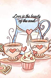 Love is the beauty of the soul.: Nurse notebook journal/organizer for gift: Lined paper writing 120 College Ruled Pages (p...