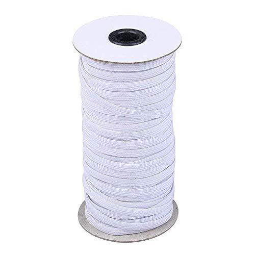 LHDDWY gevlochten elastische koord, 70/100/200 yards Briaded elastische band touw, 6mm Heavy Stretch elastiek gebreide gevlochten stretch riem voor naaien ambachten
