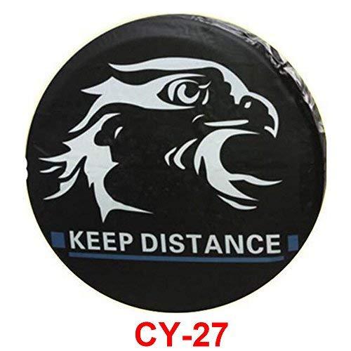 AutoSunShine CY-27 - Funda para rueda de repuesto para coche, protector de neumáticos de 15 pulgadas