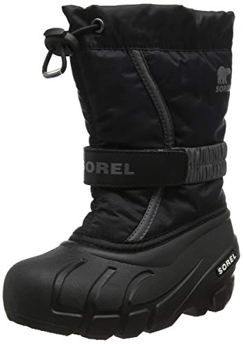 Sorel Unisex-Kinder Childrens Flurry Schneestiefel, Schwarz/Grau (Black/City Grey), 31 EU