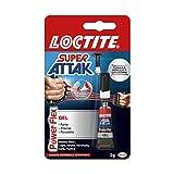 Loctite Super Attak Power Flex Gel, adesivo trasparente e istantaneo specifico per materia...