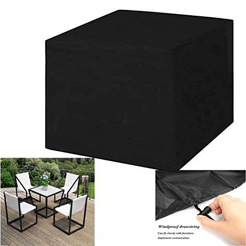HFJKD Garden Furniture Covers, Rectangular Patio Set Cover Outdoor Table And Chair Protection Anti-UV Rainproof Windproof Prevent Falling Leaves 210D Oxford Fabric Customizable