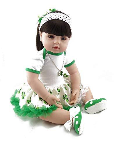 WYZQ Tamaño Grande 60CM Reborn Toddler Silicona Reborn Dolls Girl Baby Reborn Dolls Regalo para niños Real Life Cute Reborn Baby para niños de 3 años o más Juguetes Nutriendo muñecas