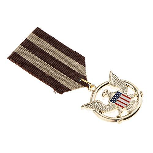 FLAMEER U.S.A Flag Soaring Eagle Medaille Abzeichen Uniform Brosche Patriotischen Schmuck
