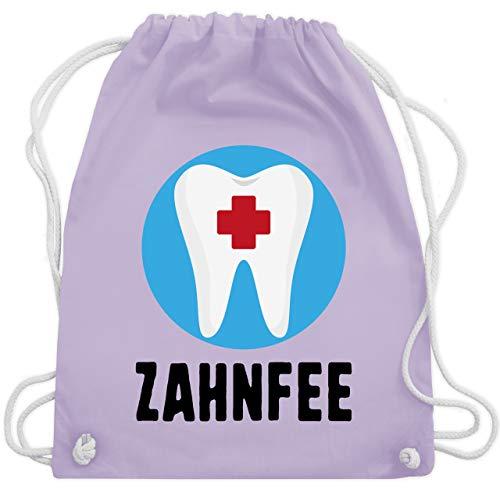Shirtracer Sonstige Berufe - Zahnfee Zahn mit Kreuz - Unisize - Pastell Lila - turnbeutel zahn - WM110 - Turnbeutel und Stoffbeutel aus Baumwolle
