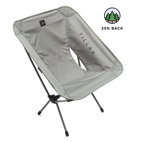 Tillak Sitka Camp Chair - An Ultralight, Portable, Compact Folding/Collapsible Chair, Perfect for Camping, Lightweight Backpacking and Beach Lounging, with Heavy Duty 300lb Capacity