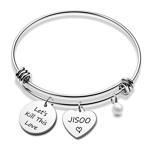 G-Ahora Blackpink Inspired Let's Kill This Love Bracelet JISSO Jennie ROSÉ Lisa Inspirational Jewelry for Girls(Kill Love BR