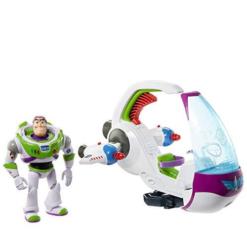 Disney Toy Story 4 Nave Exploradora Galáctica con Buzz Lightyear, nave espacial de juguete con...