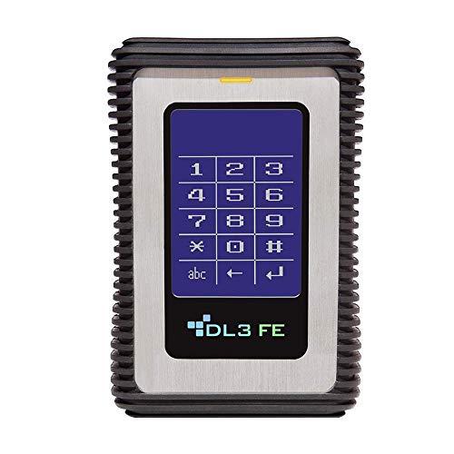 DataLocker DL3 FE 1TB RFID USB Festplatte mit zweifacher AES-256bit Hardware-Verschlüsselung, Touchscreen, 2-Faktor Authentifizierung und FIPS 140-2 / FIPS 197 Zert, DSGVO konform, FE1000RFID