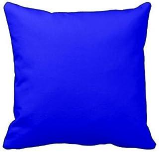 Dutars Funda de cojín de lino azul eléctrico brillante azul neón color azul cielo azul claro funda de cojín decorativa sofá hogar 45,7 x 45,7 cm