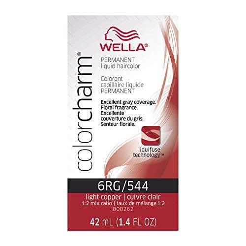 WELLA Color Charm Permanent Liquid Hair color 6RG/544 Light Copper