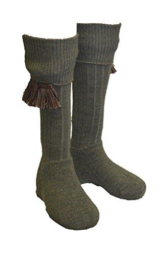 Walker & Hawkes - Chaussettes et garters assortis Scarba - homme - pour la chasse/campagne - Derby - L
